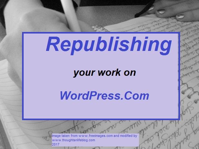 Republishing
