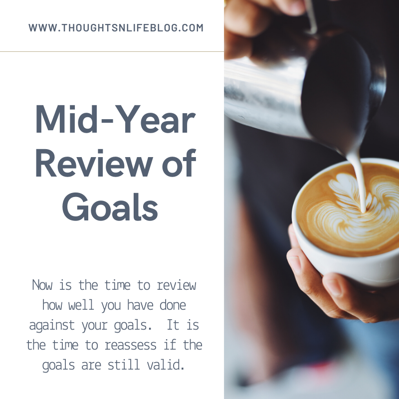 Image of Coffee: Title: Mid-Year Review of Goalsls